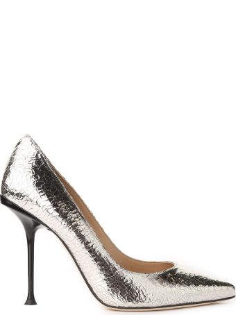 Sergio Rossi Sr1 Milano Mirrored Crackled-leather Pumps