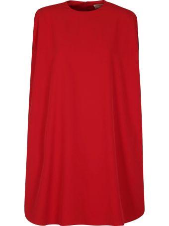 Sara Battaglia Flared Cape Dress