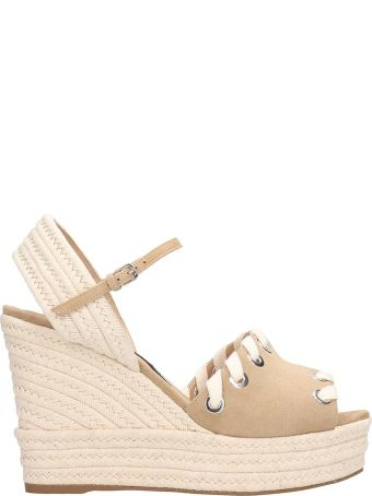 Sergio Rossi Light Brown Suede Sandals