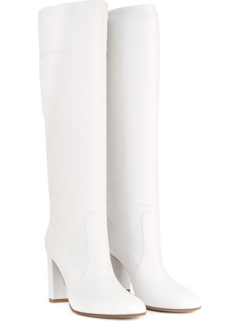 Gianvito Rossi White Leather Boots