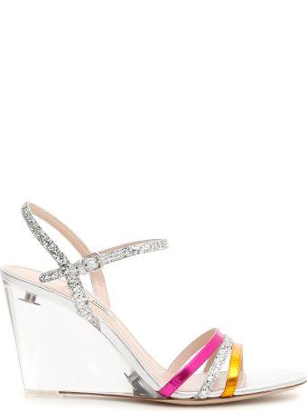 Miu Miu Plexi Wedge Sandals