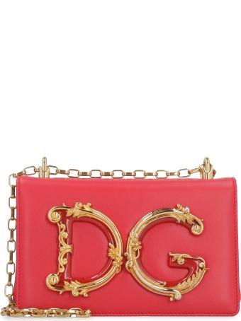 Dolce & Gabbana Dg Girls Leather Shoulder Bag