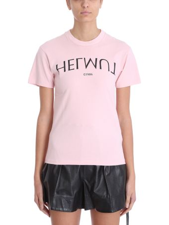 Helmut Lang Logo Hack Tee Crew Neck T-shirt