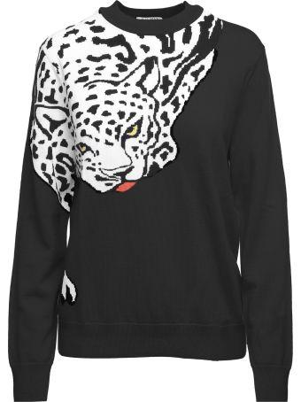 Krizia Leopard-intarsia Wool-knit Sweater