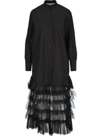 Valentino Long Dress Tulle Ruffle