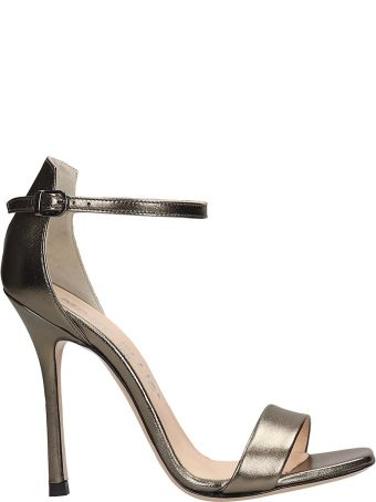 Marc Ellis Silver Leather Sandals