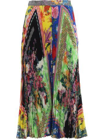 Versace Acid Bloom Printed Skirt