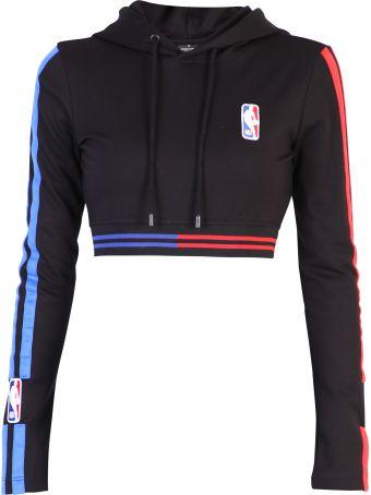 Marcelo Burlon Black Cropped Sweatshirt
