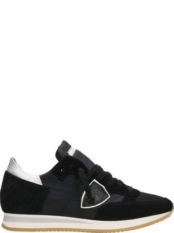 Philippe Model Tropez Black Suede Sneakers