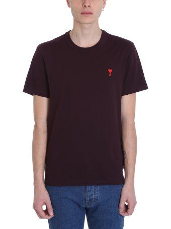Ami Alexandre Mattiussi Purple Cotton T-shirt
