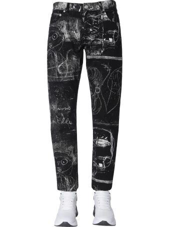 Alexander McQueen Jeans With John Deakin Print
