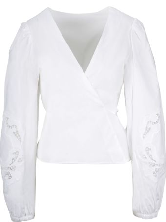 Parosh P.a.r.o.s.h. Fitted Lace Blouse