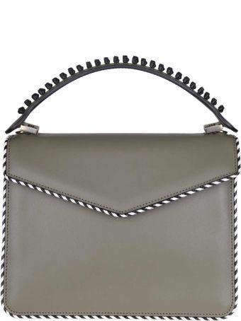 Les Petits Joueurs Pixie Handbag In Calf Leather Green Color