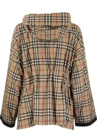 Burberry Bacton Logo Tape Recycled Polyester Hooded Jacket