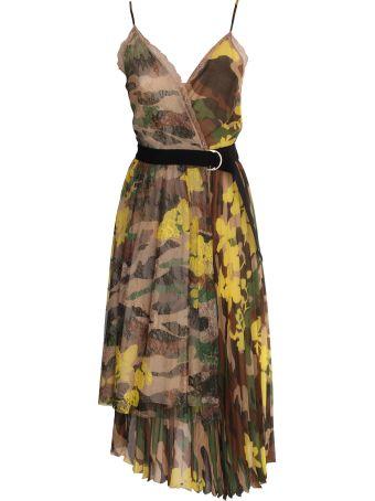 Ermanno Ermanno Scervino Ermanno Scervino camouflage georgette dress