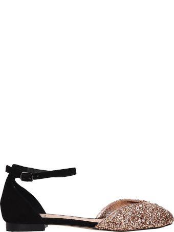 Bibi Lou Black Suede Flats Sandals