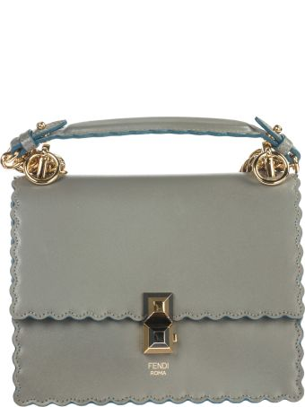 Fendi  Leather Shoulder Bag Kan I Small