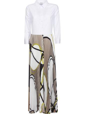 Sara Roka Pleated Buttoned Dress