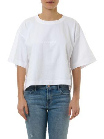 Acne Studios White Cotton Cropped T-shirt