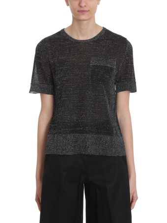 L'Autre Chose Black Lurex T-shirt