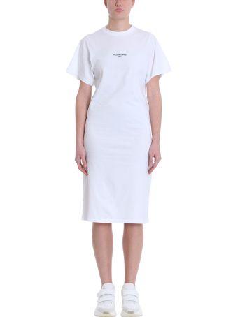 Stella McCartney Short Sleeve White Cotton Jersey Dress
