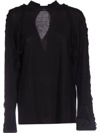 Circus Hotel Lace-Up Detail Sweater