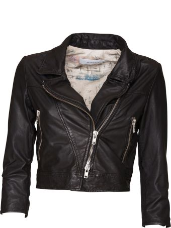 Bully Leather Cropped Jacket
