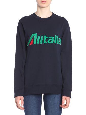 Alberta Ferretti Alitalia Embroidered Sweatshirt