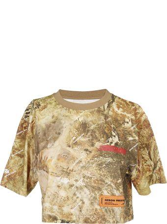HERON PRESTON Camouflage Cropped T-shirt