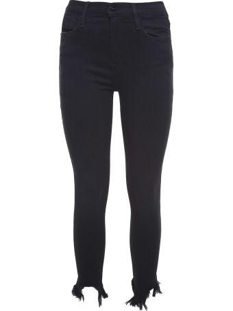 Frame Le High Skinny Frayed-hem High-rise Jeans