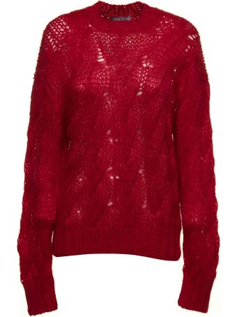 Prada Linea Rossa Cable Open Knit Sweater