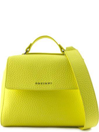 Orciani Sveva Small Yellow Leather Handbag