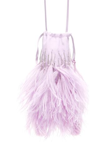 ATTICO Feathers And Beads Mini Bag