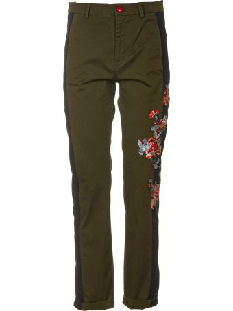 History Repeats Side Flower Pants