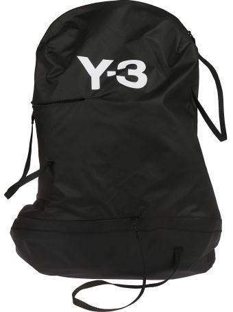 Y-3 Adidas Y-3 Logo Print Backpack