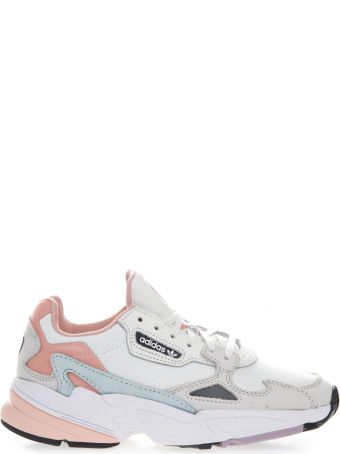 Adidas Originals Falcon White & Pink Mesh & Suede Sneakers