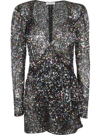 ATTICO Sequin Embellished Mini Dress