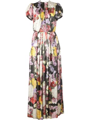 Dolce & Gabbana Ortensie Flowers - Elastic At The End Of Sleeves And Waist