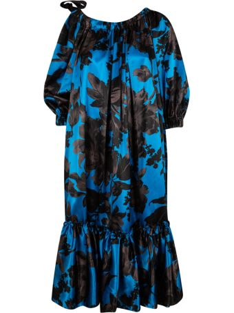 Dries Van Noten Floral Print Long Dress