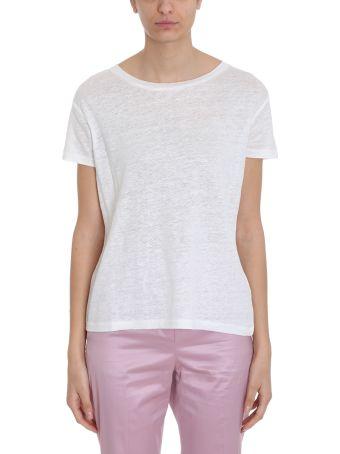 Acne Studios Cotton And Linen White Eldora T-shirt In