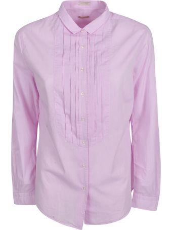Massimo Alba Pleated Bib Shirt