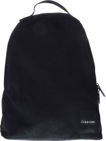 Calvin Klein Black Nylon Logo Backpack