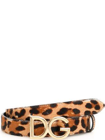 Dolce & Gabbana Leopard-printed Pony Belt
