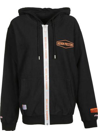 HERON PRESTON Logo Zipped Hoodie