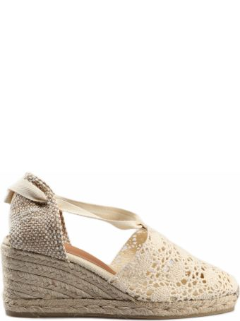 Castañer Crochet Wedge Espadrillas