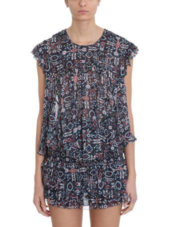 Isabel Marant Étoile Edison Floral Silk Chiffon Top