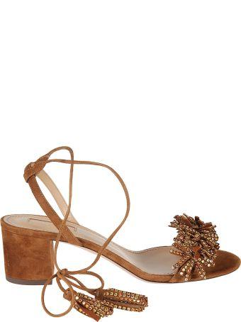 Aquazzura Fringed Detailed Sandals