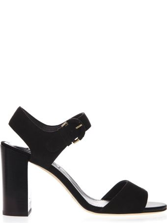Tod's Black Suede Sandals