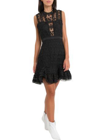 Three Floor Lace Short Dress