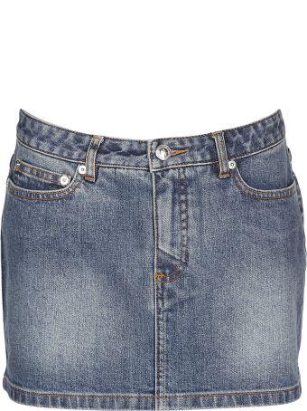 A.P.C. Rivet Studded Mini Skirt